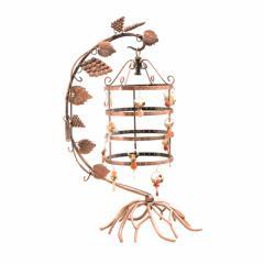 アクセサリースタンド ピアス用 ぶどうの木のモチーフ セパレート アンティーク調 地中海風 アイアン