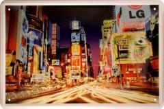 看板 ブリキ タイムズスクエア 夜景 30cm×20cm