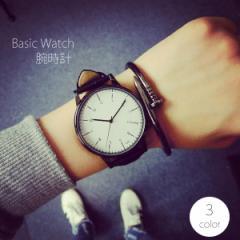 腕時計 レディース ビックフェイス 時計 レザーベ...