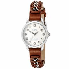 【セール】コーチ COACH DELANCEY SMALL 28mm レディース 女性 プレゼント 腕時計 シルバー カーフレザー/ステンレススチール 14502258
