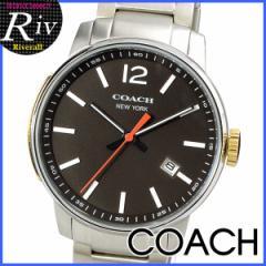 【セール】コーチ 男性 プレゼント メンズ COACH ブリーカー 40mm 腕時計 マホガニー×シルバー ステンレススチール 14601522