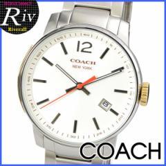 【セール】コーチ 男性 プレゼント COACH ブリーカー 40mm メンズ 腕時計 ホワイト×シルバー ステンレススチール 14601523