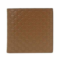 【限界値下げ】グッチ GUCCI メンズ 二つ折り財布 メイプルブラウン マイクログッチシマレザー 150413bmj1n2527 アウトレット