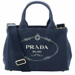 プラダ PRADA カナパ レディース 2wayトートバッグ ネイビー キャンバス 1bg439canapa-balt
