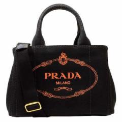 【限界値下げ】プラダ PRADA カナパ 2wayトートバッグ ブラック×アランチョオレンジ キャンバス 1bg439canapa-near