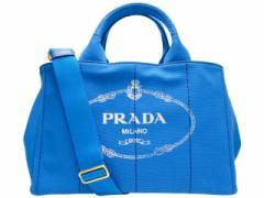 プラダ PRADA カナパ 2WAYトートバッグ レディース ライトブルー キャンバス 1bg642canapa-azzu lug_b lug