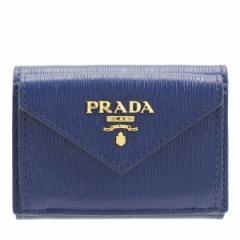 プラダ PRADA 三つ折り財布  アウトレット 1mh021vitmov-blue