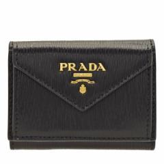 プラダ 財布 PRADA 三つ折り ミニ アウトレット 1mh021vitmov-nero