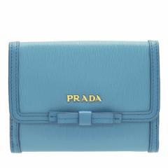 プラダ 二つ折り財布 レディース  PRADA  リボン アウトレット 1mh523vimofi-mare