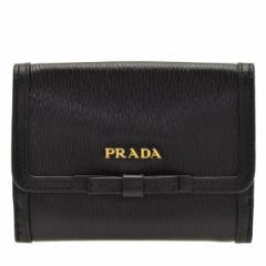 プラダ 二つ折り財布 PRADA リボン アウトレット 1mh523vimofi-nero