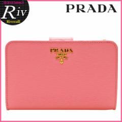 プラダ PRADA 二つ折り財布 ライトピンク 型押しレザー 1ml225vitmov-gera アウトレット