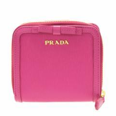 プラダ 二つ折り財布 レディース  PRADA  リボン アウトレット 1ml522vimofi-fuxi