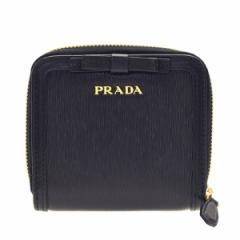 プラダ 二つ折り財布 レディース  PRADA  リボン アウトレット 1ml522vimofi-nero