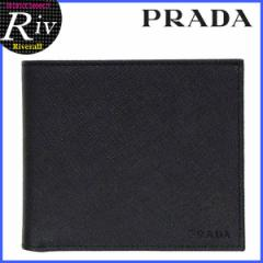 プラダ 財布 PRADA メンズ 二つ折り財布 NERO ブラック SAFFIANO レザー 2mo738saf-nero