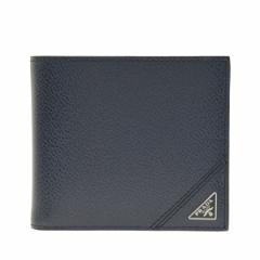 プラダ 財布 メンズ PRADA 二つ折り財布 アウトレット 2mo738vimigr-balt