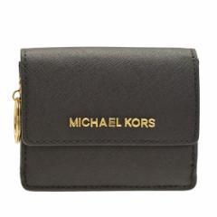 【セール】マイケルコース M.MICHAEL KORS レディース カードケース 小銭入れ ブラック 35f7gtvd2l-black アウトレット