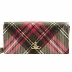 ヴィヴィアン・ウエストウッド Vivienne Westwood 二つ折り長財布 チェック柄 51060025-newexh