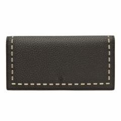 フェンディ FENDI SELLERIA メンズ 二つ折り長財布 ブラック レザー 7m0186-74d-f0gxn