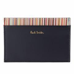 【決算セール】ポールスミス PAUL SMITH メンズ カードケース ネイビー×マルチストライプ レザー atpc4768w761-47