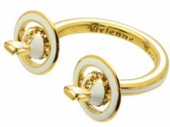 ヴィヴィアン ウエストウッド Vivienne Westwood  リング 指輪 ゴールド×ホワイト ロジウム×ラインストーン br1137-1