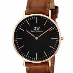 [厳選]ダニエルウェリントン Daniel Wellington 腕時計 Classic Black Durham メンズ ブラック レザー/カーフ革 dw00100126