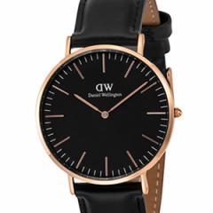 [厳選]ダニエルウェリントン Daniel Wellington 腕時計 Classic Black Sheffield メンズ ブラック レザー/カーフ革 dw00100127