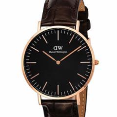 [厳選]ダニエルウェリントン Daniel Wellington 腕時計 Classic Black York メンズ ブラック レザー/カーフ革 dw00100128