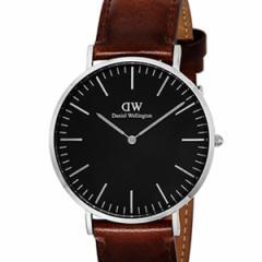 [厳選]ダニエルウェリントン Daniel Wellington 腕時計 Classic Black St. Mawesメンズ ブラック レザー/カーフ革 dw00100130