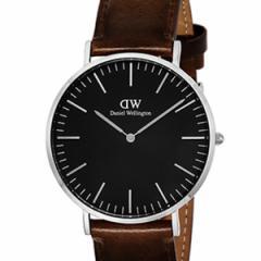 [厳選]ダニエルウェリントン Daniel Wellington 腕時計 Classic Black Bristol メンズ ブラック レザー/カーフ革 dw00100131