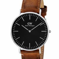 [厳選]ダニエルウェリントン Daniel Wellington 腕時計 Classic Black Durham メンズ ブラック レザー/カーフ革 dw00100132