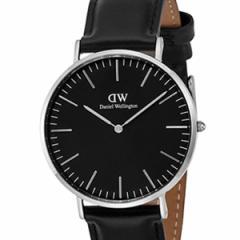 [厳選]ダニエルウェリントン Daniel Wellington 腕時計 Classic Black Sheffield メンズ ブラック レザー/カーフ革 dw00100133