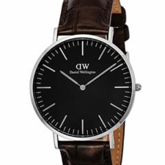 [厳選]ダニエルウェリントン Daniel Wellington 腕時計 Classic Black York メンズ ブラック レザー/カーフ革 dw00100134