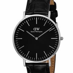 [厳選]ダニエルウェリントン Daniel Wellington 腕時計 Classic Black Reading メンズ ブラック レザー/カーフ革 dw00100135