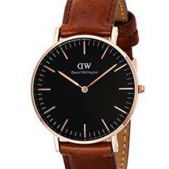 [厳選]ダニエルウェリントン Daniel Wellington 腕時計 Classic Black St. Mawesユニセックス ブラック レザー/カーフ革 dw00100136