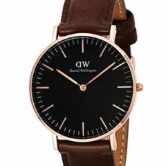 [厳選]ダニエルウェリントン Daniel Wellington 腕時計 Classic Black Bristol ユニセックス ブラック レザー/カーフ革 dw00100137