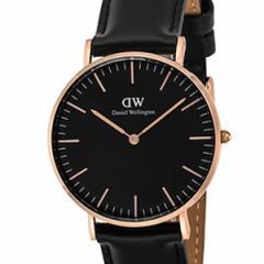 [厳選]ダニエルウェリントン Daniel Wellington 腕時計 Classic Black Sheffield ユニセックス ブラック レザー/カーフ革 dw00100139