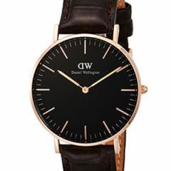 [厳選]ダニエルウェリントン Daniel Wellington 腕時計 Classic Black York ユニセックス ブラック レザー/カーフ革 dw00100140