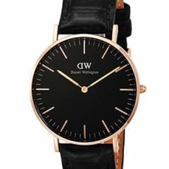 [厳選]ダニエルウェリントン Daniel Wellington 腕時計 Classic Black Reading ユニセックス ブラック レザー/カーフ革 dw00100141