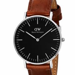 [厳選]ダニエルウェリントン Daniel Wellington 腕時計 Classic Black St. Mawesユニセックス ブラック レザー/カーフ革 dw00100142