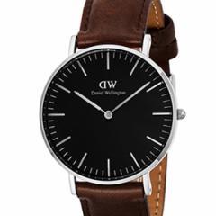 [厳選]ダニエルウェリントン Daniel Wellington 腕時計 Classic Black Bristol ユニセックス ブラック レザー/カーフ革 dw00100143