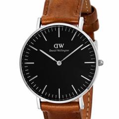 [厳選]ダニエルウェリントン Daniel Wellington 腕時計 Classic Black Durham ユニセックス ブラック レザー/カーフ革 dw00100144