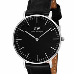 [厳選]ダニエルウェリントン Daniel Wellington 腕時計 Classic Black Sheffield ユニセックス ブラック レザー/カーフ革 dw00100145