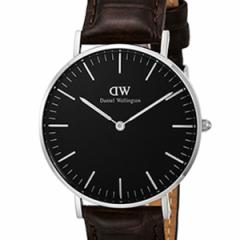 [厳選]ダニエルウェリントン Daniel Wellington 腕時計 Classic Black York ユニセックス ブラック レザー/カーフ革 dw00100146