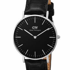 [厳選]ダニエルウェリントン Daniel Wellington 腕時計 Classic Black Reading ユニセックス ブラック レザー/カーフ革 dw00100147