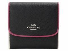 コーチ COACH 三つ折り財布 レディース  ブラックマルチ レザー f11824svm2 アウトレット