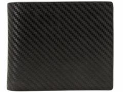【決算セール】ダンヒル dunhill メンズ 二つ折り財布 ブラック カーボン×レザー l2h232a