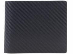 ダンヒル dunhill メンズ 二つ折り財布 ネイビー カーボン×レザー l2v532n