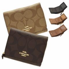 【セール】コーチ 財布 三つ折り COACH シグネチャー レディース アウトレット f41302 人気 ミニ財布 革 かわいい 可愛い 薄い 軽量 折り