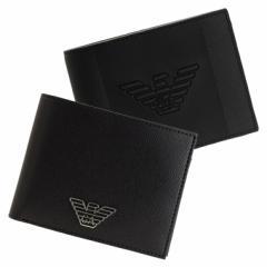 【スペシャルセール】エンポリオ・アルマーニ 財布 メンズ EMPORIO ARMANI 二つ折り財布 ブラック 黒 y4r165-yfe6j-81072 y4r165-yla0e-8