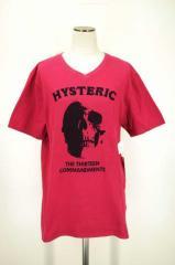 HYSTERIC GLAMOUR(ヒステリックグラマー) VネックプリントTシャツ M ピンク レディース【バズストア 古着】【中古】